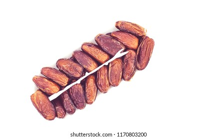 packed dried dates; isolated