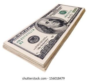 packet of U.S. dollars