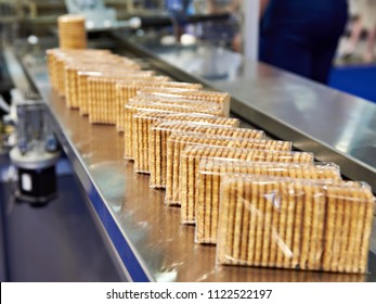 Packing of cookies at the factory