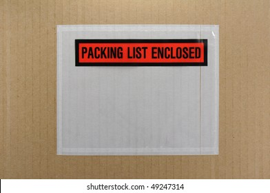 packing list envelope empty