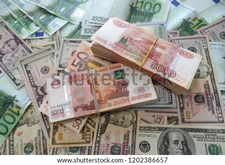 Packs Million Of Russian Rubles With Dollars And Euro