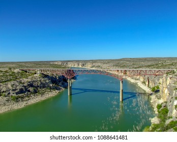 Pacos River from near the bridge at Comstock, Texas