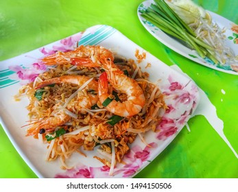 Pad Thai Goong Sod - Fried Thai noodle with shrimp