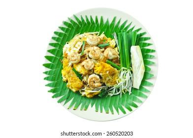 Pad Thai Goong Sod(Fried Rice Sticks with Shrimp)