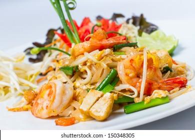Pad Thai Koong dish of stir fried rice noodles