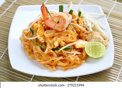 Pad thai shrimp  is noodle food Thai Style.