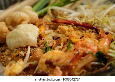 """""""Pad Thai"""" Thailand most famous stirred fried noodles with dry shrimp, egg, tofu, peanut and bean sproutssecert seasoning with unique sauce."""