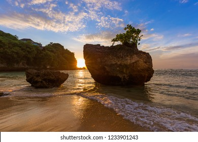 Padang Padang Beach in Bali Indonesia - nature vacation background