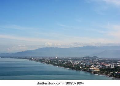 Padang city as seen from Mount Padang.