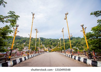 Padang, Indonesia : Siti Nurbaya Bridge, a famous landmark in Padang, west Sumatera, Indonesia (10/2018).