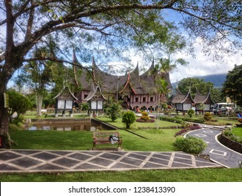 Padang Panjang, Indonesia - July 13rd 2017: Minang Palace in a frame
