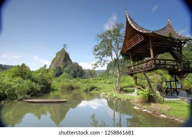 Padang, West Sumatera, Indonesia. September 18, 2017 : natural beauty of western Sumatra