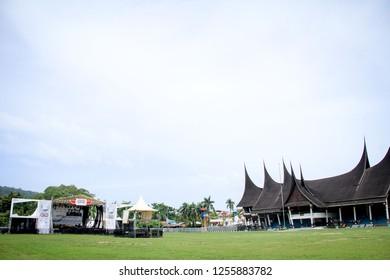 Padang, West Sumatera/Indonesia - 15th June 2013: Rumah Gadang (A Big Mansion), an Indonesian Traditional House