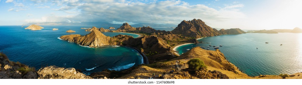 Padar Island, panoramic view.