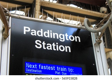 Paddington Station display board, London, United Kingdom. Photo was taken in 2010 August.