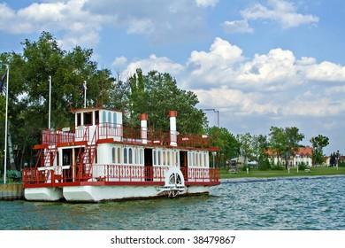 Paddle steamer at lake Palic, Serbia