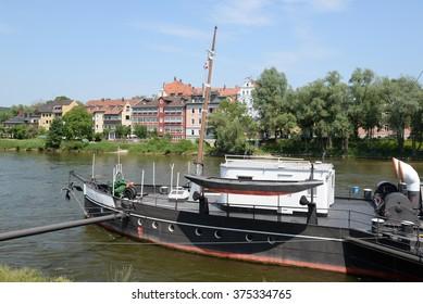 Paddle steamer in Regensburg, Germany