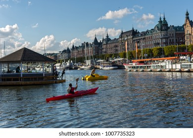 Paddle in the Stockholm -Sweden