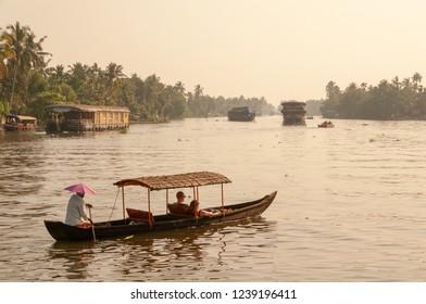 Paddle tourist boat, Kerala