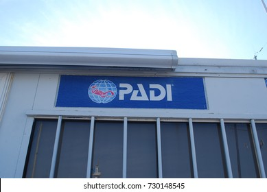 PADI Scubadiving Office, Sign - Ocean Exploration Training / Certification Company - August 17 2017 - Bandol, France