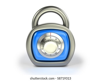 Padlock with combination lock