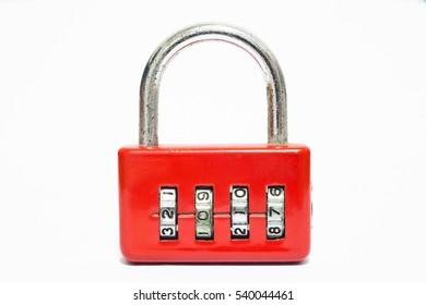 Padlock luggage lock code 2017 new year on white background  with copy space for your text