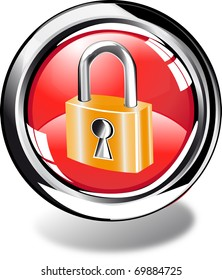 padlock web button