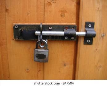 padlocked bolt