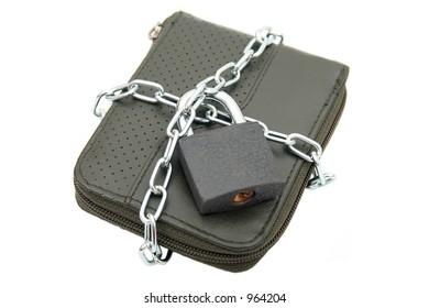 Padlocked wallet