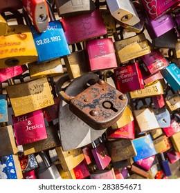 padlocks closeup at cologne