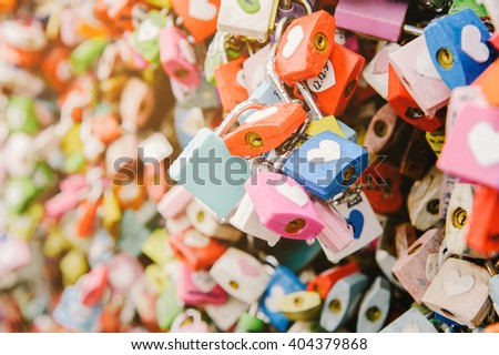 padlocks of love rainning