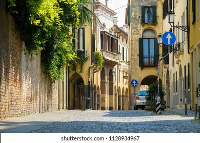 PADOVA, ITALY - June, 22, 2017: street in a center of Padova, Italy