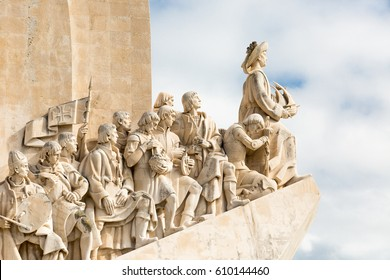 Padro dos Descobrimentos. Monument in Lisbon. The monument was conceived in 1939 by Portuguese architect Jose Angelo Cottinelli Telmo, and sculptor Leopoldo de Almeida. 27 October 2015