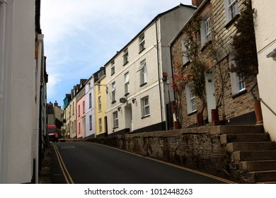 Padstow (England), UK - August 10, 2015: Padstow centre, Cornwall, United Kingdom.