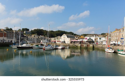 PADSTOW, NORTH CORNWALL-SEPTEMBER 8th 2015: Beautiful late summer sun and calm fine weather drew visitors to the harbour and coast at Padstow, Cornwall, England UK, on Tuesday 8th September 2015