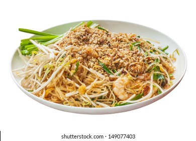 Padthai food from Thailand isolated on white background