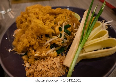 Padthai fusion , that are padthai and topon with fried omelette, famous food in thailand