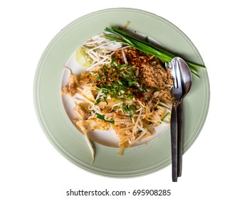 """""""Padthai"""" is ordinary menu and very popular for foreign tourist in Thailand. Padthai with isolated background"""