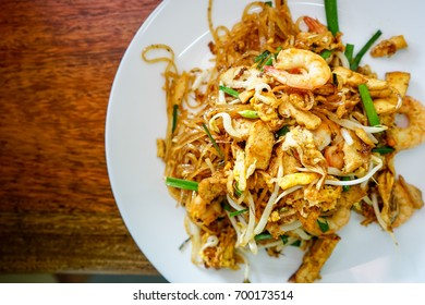 Padthai thai style noodles, Shrimps padthai, Thai Food.