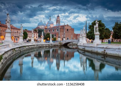 Padua. Cityscape image of Padua, Italy with Prato della Valle square during sunset.