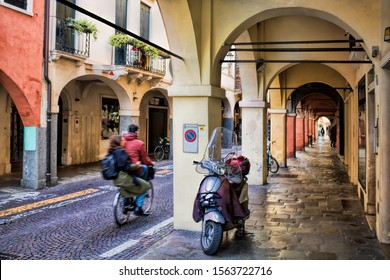 Padua, Italy - 19.3.2019 - Arcades in the downtown area
