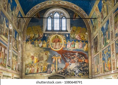 PADUA, ITALY - JANUARY 6, 2018: Interior of church of The Eremitani (Chiesa degli Eremitani) at piazza Eremitani.