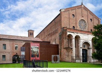 PADUA, ITALY - NOVEMBER 1: Musei civici degli Eremitani - Civic Museum of the Hermits. Since 1985 museum is housed in the cloisters of convent of Friars Hermits in Padua, Italy on November 1, 2012