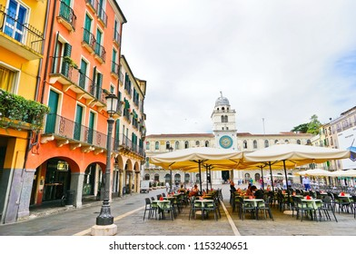 Padua, Italy - September 5, 2016 : View of Piazza dei Signori in Padua, Italy on September 5, 2016. The square is one of the many plazas in the historic city of Padua.