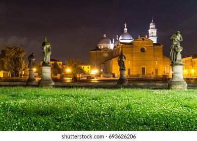Padua - Prato della Valle at night. Padova, Italy