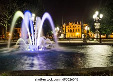 Padua - Prato della Valle with your beautiful fountain at night. Padova, Italy