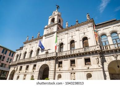 Padua university. Popular touristic european destination. Padua city view