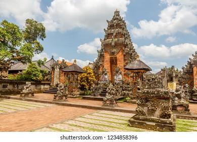 Paduraksa gates of Balinese Hindu temple Pura Puseh Desa Batuan, Kabupaten Gianyar, Bali, Indonesia