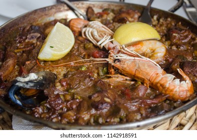 Paella of Les Quinze Nits located in the Gothic Quarter, which is the center of the old city of Barcelona.