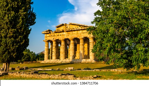 Paestum , Temple of Neptune or Hera II. Italy